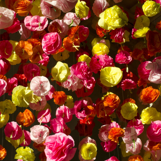 """""""Paper folded flowers"""" stock image"""