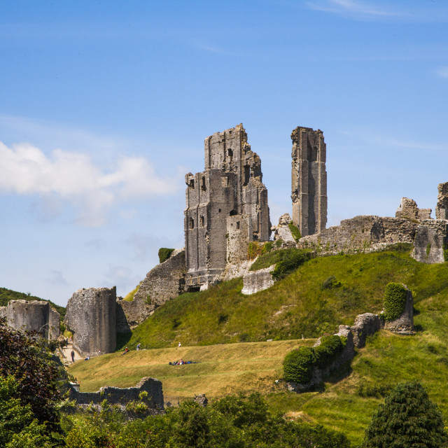 """Corfe Castle, Dorset England"" stock image"