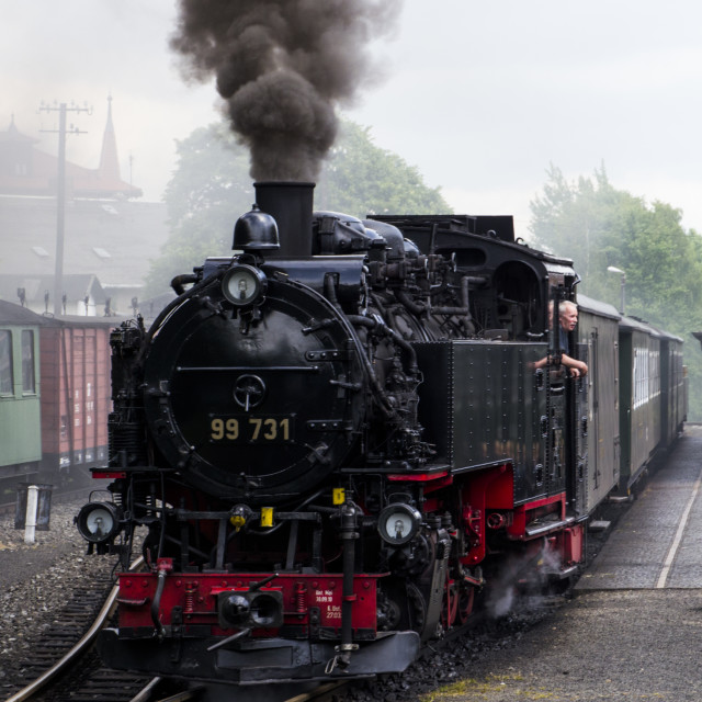 """Steam train on the Zittau Railway,Saxony ,Germany."" stock image"