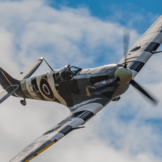 """Spitfire Rolling In"" stock image"