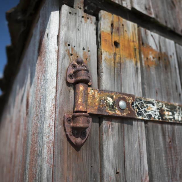 """Old Rusty Hinge"" stock image"