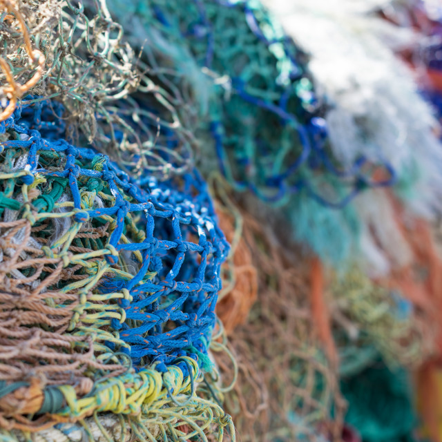 """Colorful Fishing Nets"" stock image"