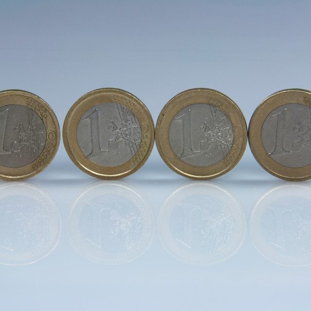 """Coins of Euro"" stock image"