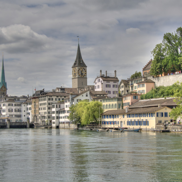 """Panorama of Zurich"" stock image"