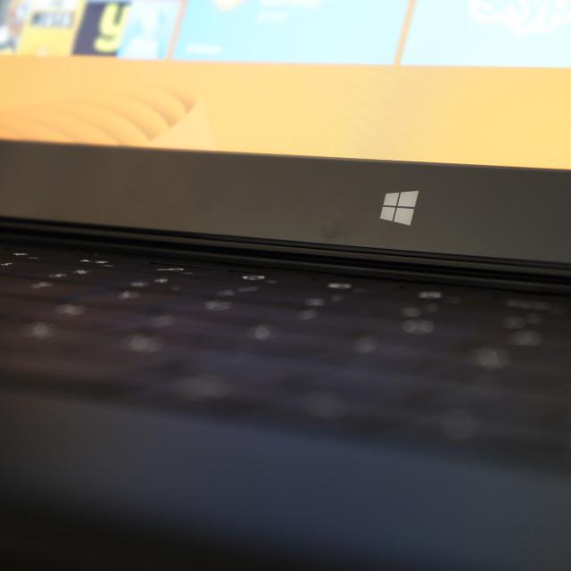 """Surface RT lit screen Windows Logo"" stock image"