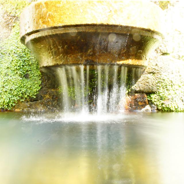 """Long Exposure fountain"" stock image"