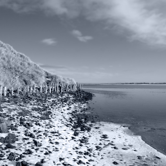 """""""erosion protection in irelands winter"""" stock image"""