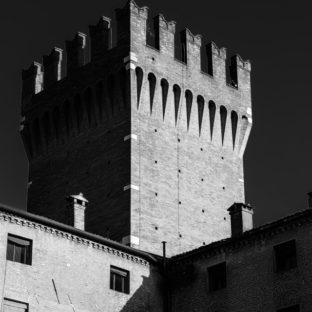 """Tower in black and white"" stock image"