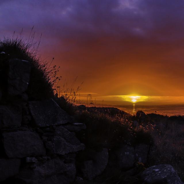 """North sea sunrise"" stock image"