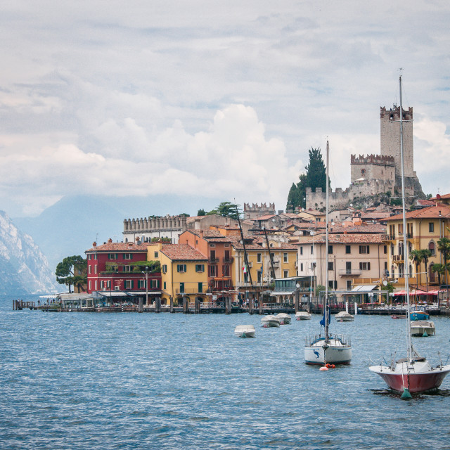 """Malcesine, Lake Garda"" stock image"