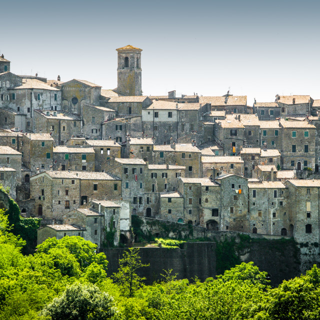 """""""Sorano, Italy"""" stock image"""