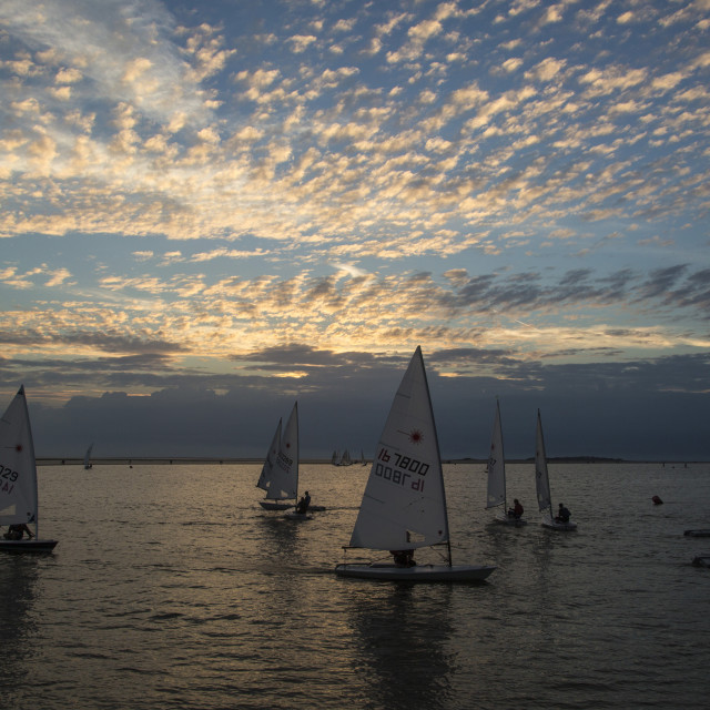 """Sunset Sailing"" stock image"