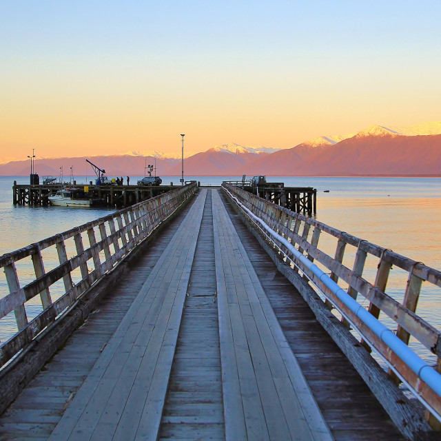 """sunset pier"" stock image"