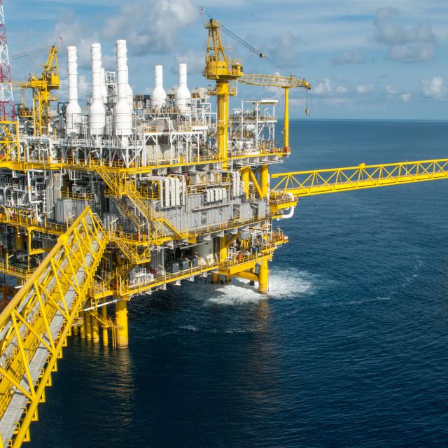 """Oil and gas platform or Construction platform"" stock image"