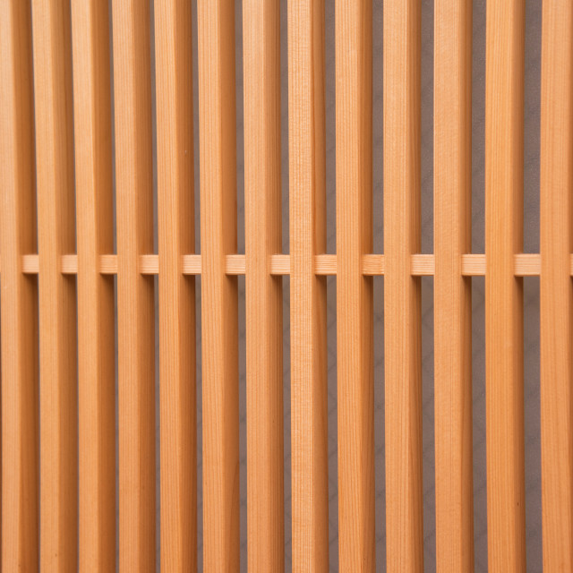 """""""detail of wood Japanese house in Gion district in Kyoto Japan"""" stock image"""