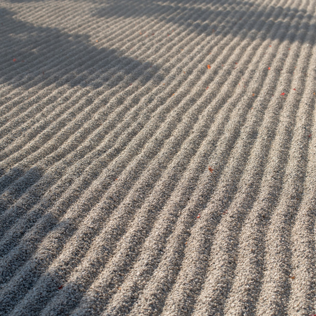"""Zen garden at Tenryuji temple,Kyoto,Japan"" stock image"