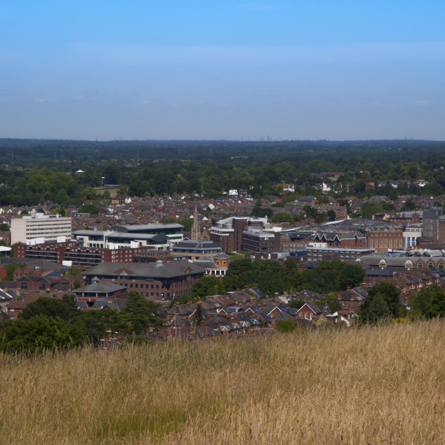 """""""Guildford Surrey,Overview"""" stock image"""