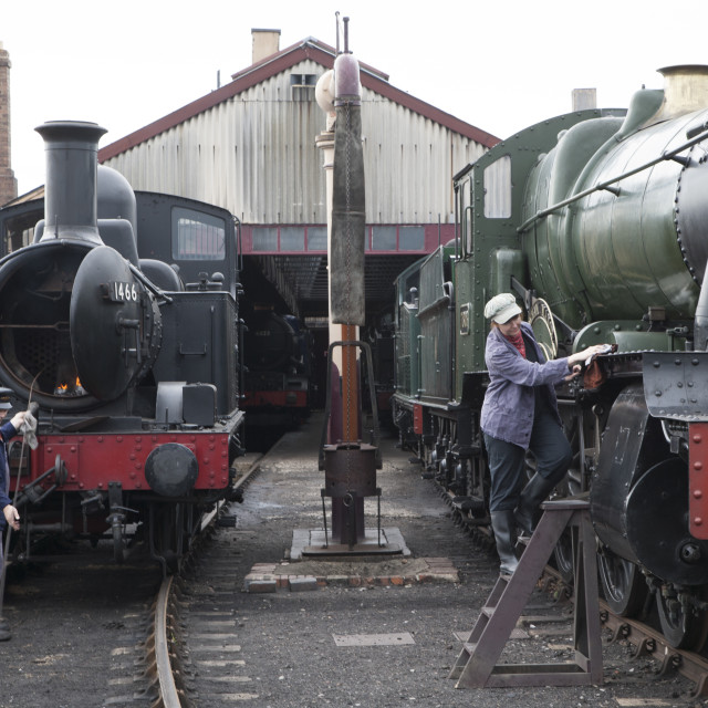 """Didcot Railway Centre"" stock image"