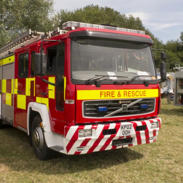 """2001 built Volvo FL16-14 Fire Engine"" stock image"