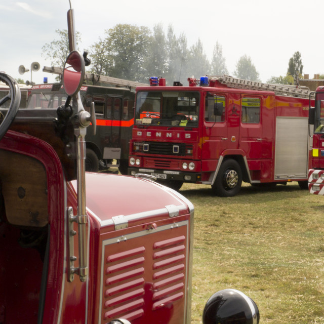"""""""Fire Engines at Odiham Fire Show 2015"""" stock image"""
