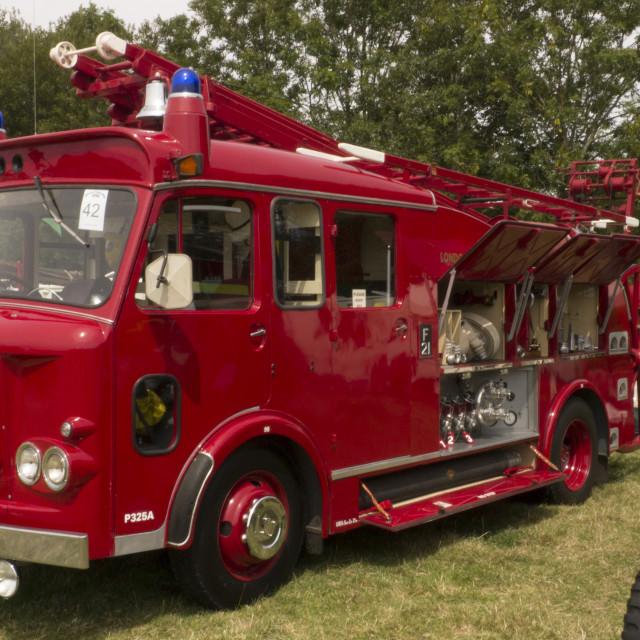 """1967 built Dennis F106 Fire Engine"" stock image"