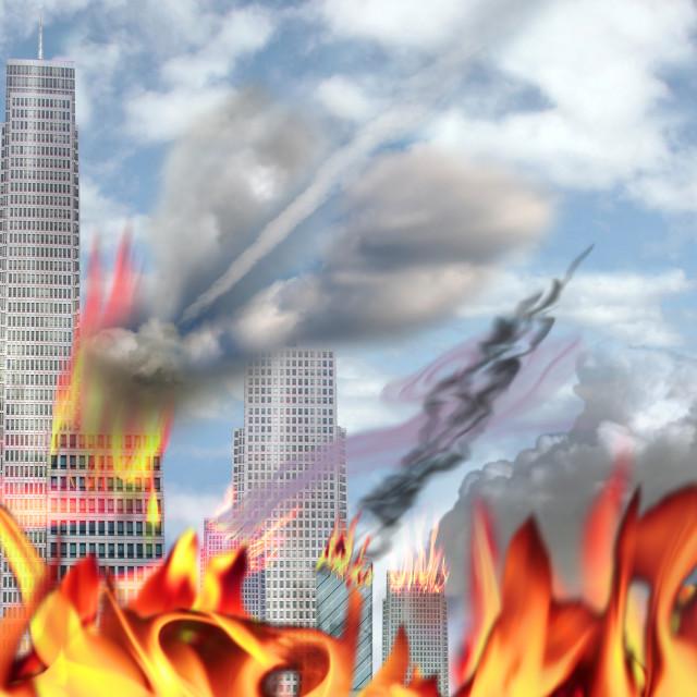 """The Beast says its Armageddon"" stock image"