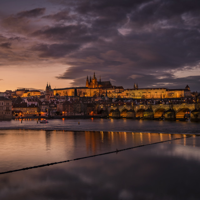 """Prague in twilight"" stock image"