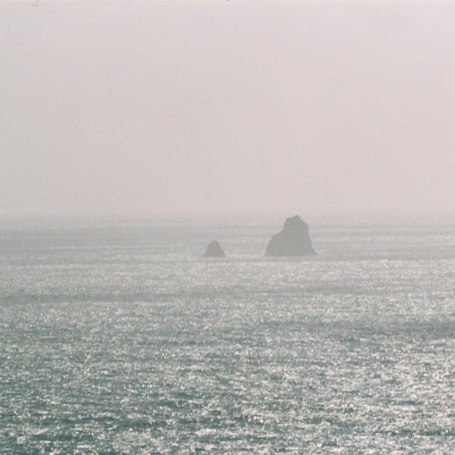 """Heat Haze Over The Sea"" stock image"