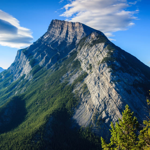 """Mt Rundle"" stock image"