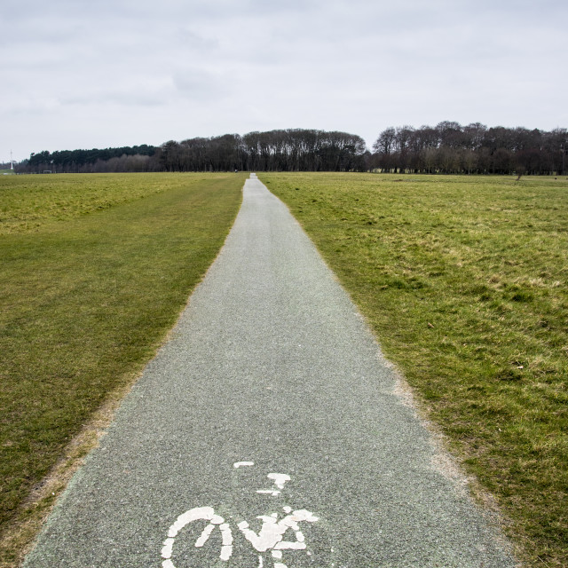"""Bicycle Lane to nowhere"" stock image"