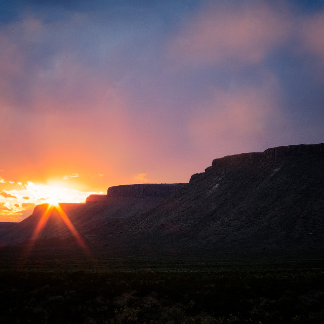 """Big Bend Sunset"" stock image"
