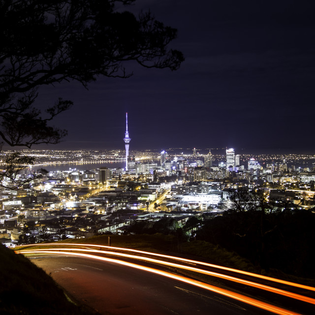 """Auckland Nightscape"" stock image"