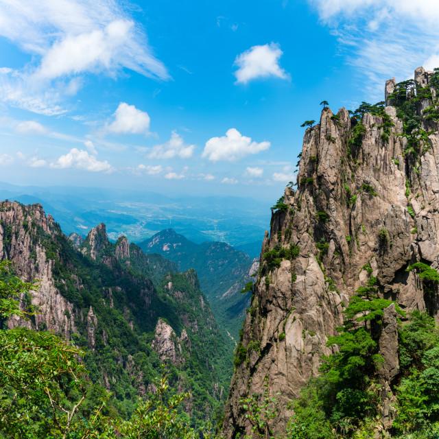 """""""Huangshan Granite"""" stock image"""
