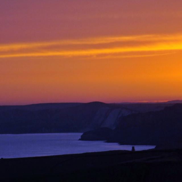 """""""Sunset over Kimmerdige"""" stock image"""