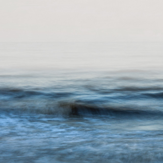 """""""Foggy Evening And The Silky Waves"""" stock image"""