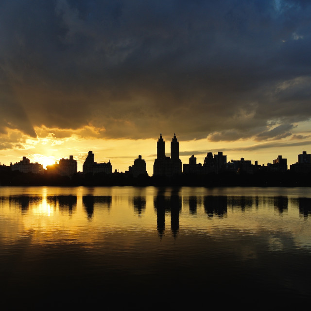 """Central Park Sunset"" stock image"