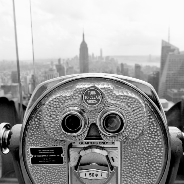 """Rockefeller View Finder"" stock image"