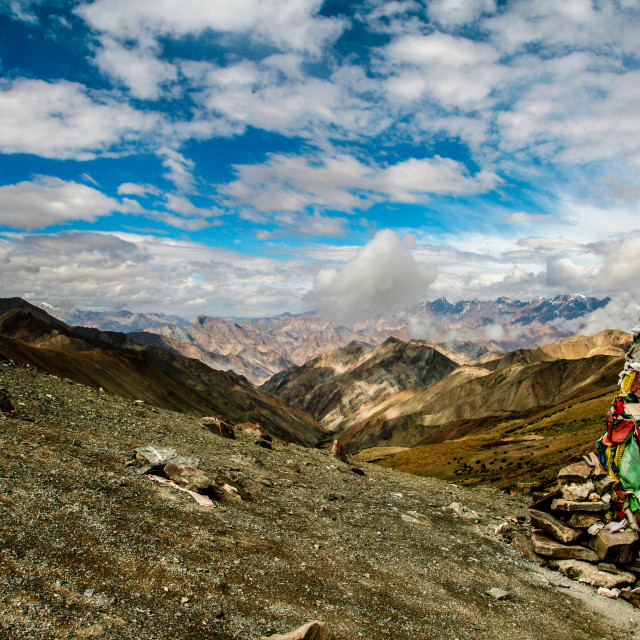 """The Ganda La pass, Ladakh."" stock image"