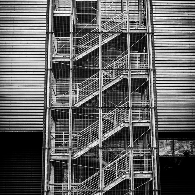 """""""Steel Staircase"""" stock image"""