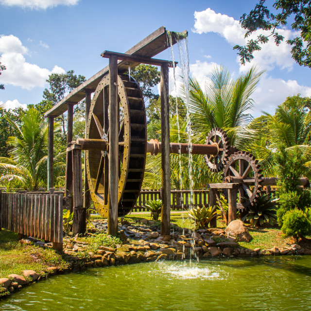 """Waterwheel"" stock image"