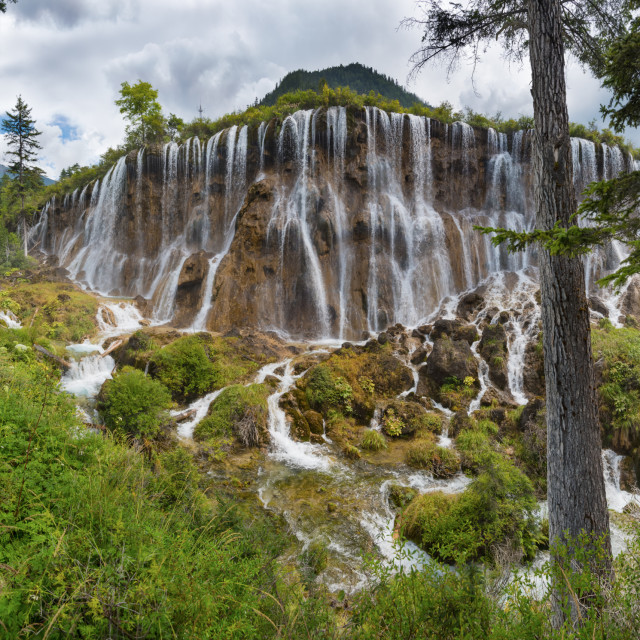 """Nuorilang Falls, Jiuzhaigou"" stock image"