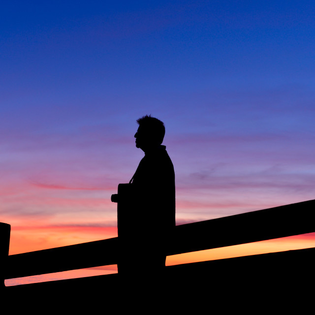 """""""Silhouetted"""" stock image"""