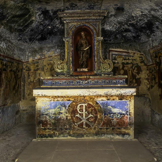 """.St. Agatha's Catacombs,Malta"" stock image"