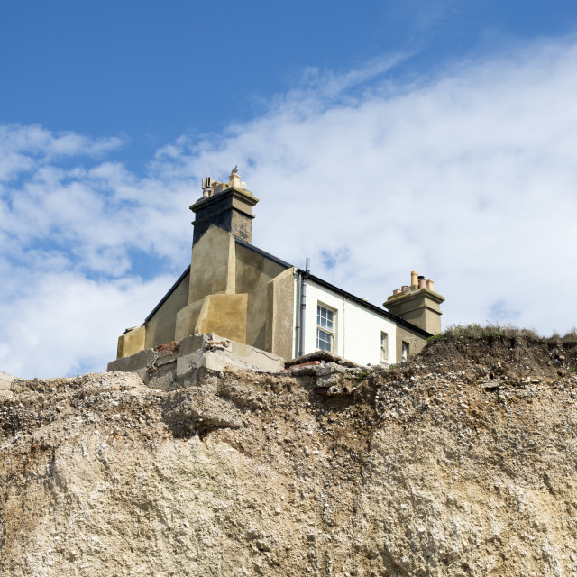 """""""House on the edge"""" stock image"""