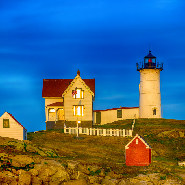 """Nubble lighthouse"" stock image"