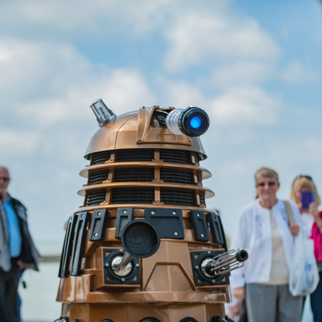 """'We are first, Exterminate!'"" stock image"