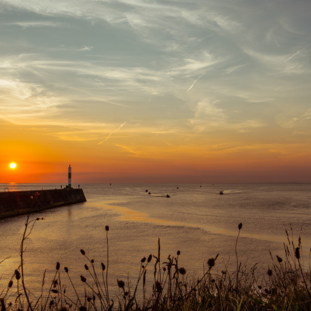 """Aberystwyth Harbour"" stock image"
