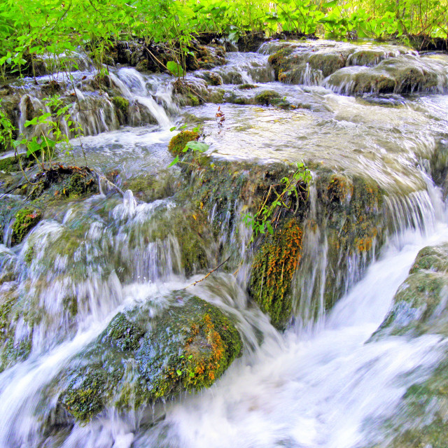"""Plitvice lakes and waterfalls,12"" stock image"