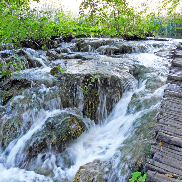 """Plitvice lakes and waterfalls,11"" stock image"