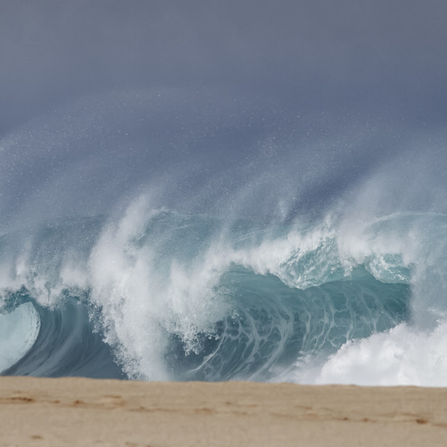 """Shorebreak wave"" stock image"